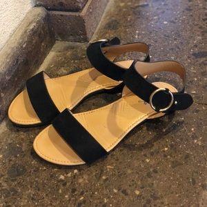 Qupid Black Sandals